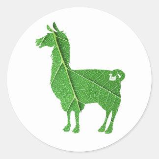 Blatt-Lama-Aufkleber Runder Aufkleber