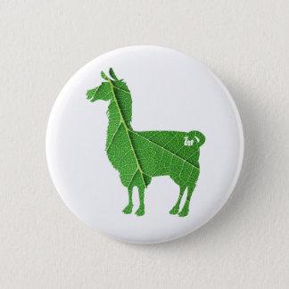 Blatt-Lama-Knopf Runder Button 5,1 Cm