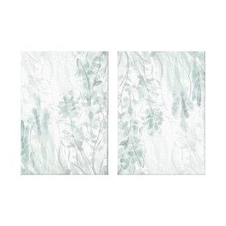 Blatt-Wasserfarbe-Skizze mit Stift-Waldwand-Kunst Leinwanddrucke