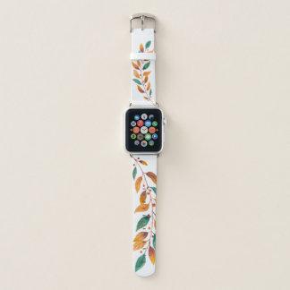 Blätter auf einer Niederlassung Apple Watch Armband