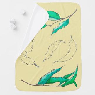 Blätter der Weide Baby-Decke