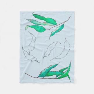 Blätter der Weide Fleecedecke