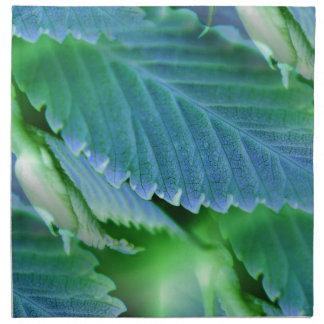 Blätter im Blau - umgekehrte Kunst Stoffserviette