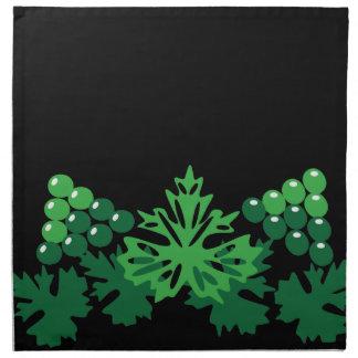 Blätter mit Trauben Serviette