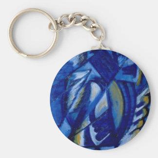 Blau auf Zinn durch Olga Rozanova Schlüsselanhänger