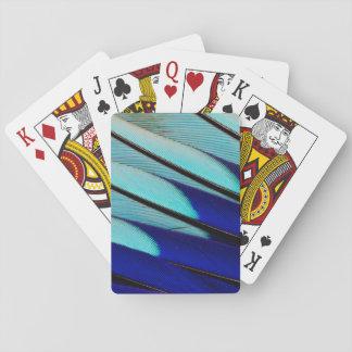 Blau-aufgeblähte Rollenfedern Spielkarten