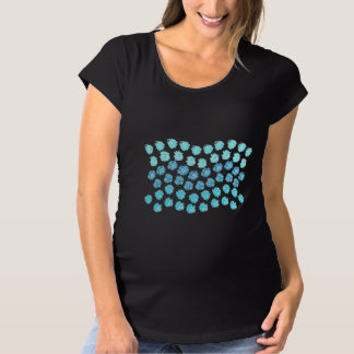 Blau bewegt MutterschaftsT - Shirt wellenartig