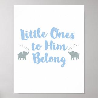 Blau des Elefant-christliches Poster