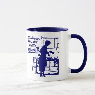 """Blau """"eine WENIG HEXEREI"""" Kaffee-Tasse Tasse"""