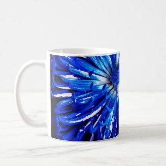 Blau gemalte Blumenblatt-Tasse Kaffeetasse