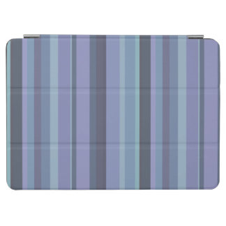 Blau-graue horizontale Streifen iPad Air Hülle