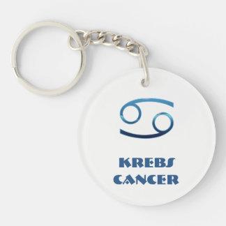 Blau Krebs Krebs-Tierkreis Schlüsselanhänger