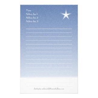Blau mit Schnee Briefpapier