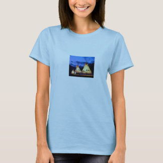 Blau-T - Shirt Frauen gebürtiger