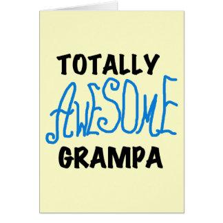 Blau total fantastische Grampa T - Shirts und Karte