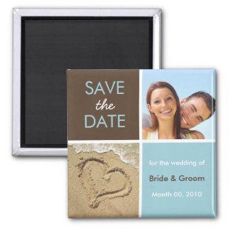 Blau und Brown-Foto-Save the Date Magneten Magnete