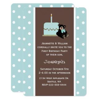 Blau und erste der Geburtstags-Einladung 12,7 X 17,8 Cm Einladungskarte