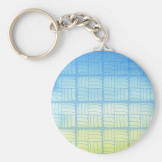 Blau und Gelb Schlüsselanhänger
