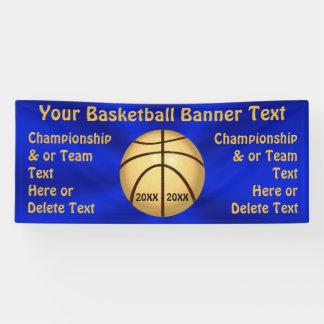 Blau-und Goldbasketball-Fahne mit 4 Textboxen Banner