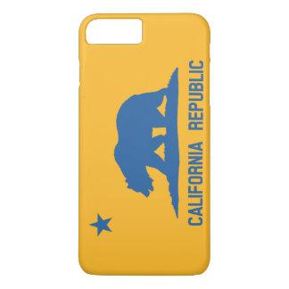 Blau-und Goldkalifornien-Republik-Flagge iPhone 8 Plus/7 Plus Hülle