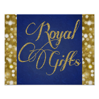 Blau-und Goldprinz Royal Gifts Poster Sign