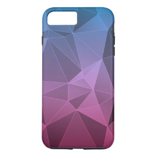 Blau und Rosa verblaßten polygonal iPhone 8 Plus/7 Plus Hülle