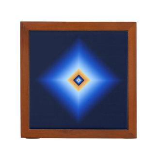 Blau und TAN-Diamant Stifthalter