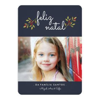 Blau | von geburts von Photokarte einfach 12,7 X 17,8 Cm Einladungskarte