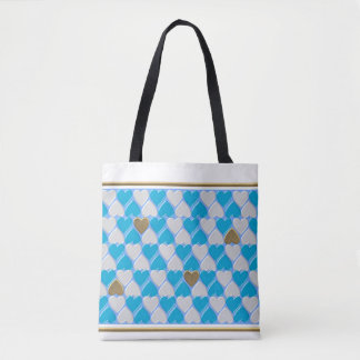 Blau, weißes bayerisches Muster