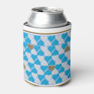 Blau, weißes bayerisches Muster Dosenkühler