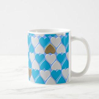 Blau, weißes bayerisches Muster Kaffeetasse
