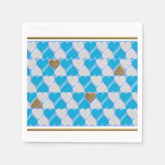 Blau, weißes bayerisches Muster Papierservietten