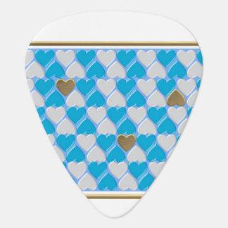 Blau, weißes bayerisches Muster Plektrum