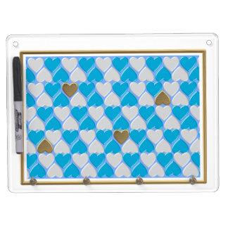 Blau, weißes bayerisches Muster Trockenlöschtafel Mit Schlüsselanhängern