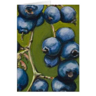 Blaubeere Notecard Karte