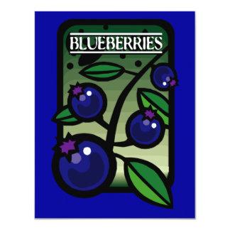 Blaubeeren 10,8 X 14 Cm Einladungskarte