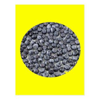 Blaubeeren auf Glas Postkarte