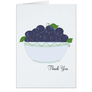Blaubeeren danken Ihnen Grußkarte