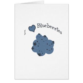 Blaubeeren der Liebe I Mitteilungskarte