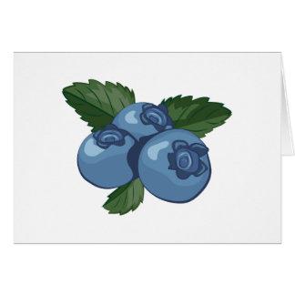 Blaubeeren Grußkarte