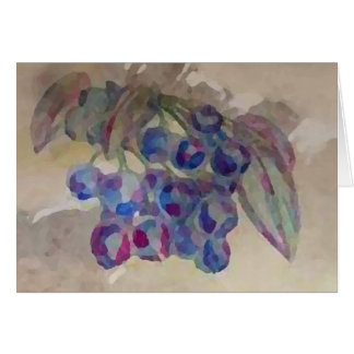 Blaubeeren lädt hübsche Watercolor-Malerei ein Grußkarte