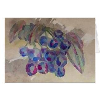 Blaubeeren lädt hübsche Watercolor-Malerei ein Karte