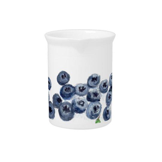 Blaubeerfrucht-Küchendekor Getränke Krüge