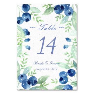Blaubeerhochsommer-rustikale Wedding Tischnummer