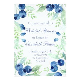 Blaubeerhochsommer-rustikales Wedding Brautparty Karte