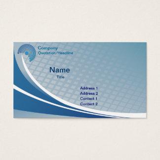 Blaue abstrakte Geschäfts-Karten-Schablone Visitenkarten