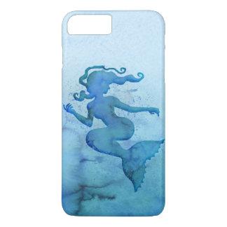Blaue Aquarell-Meerjungfrau iPhone 7 Plus Hülle