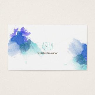 Blaue Aquarell-Visitenkarte Visitenkarte