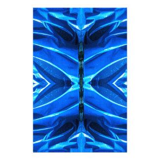 Blaue Aufflackern-Flossen Briefpapier