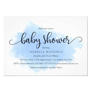 Blaue Babyparty-Einladung des Nebel-  Karte